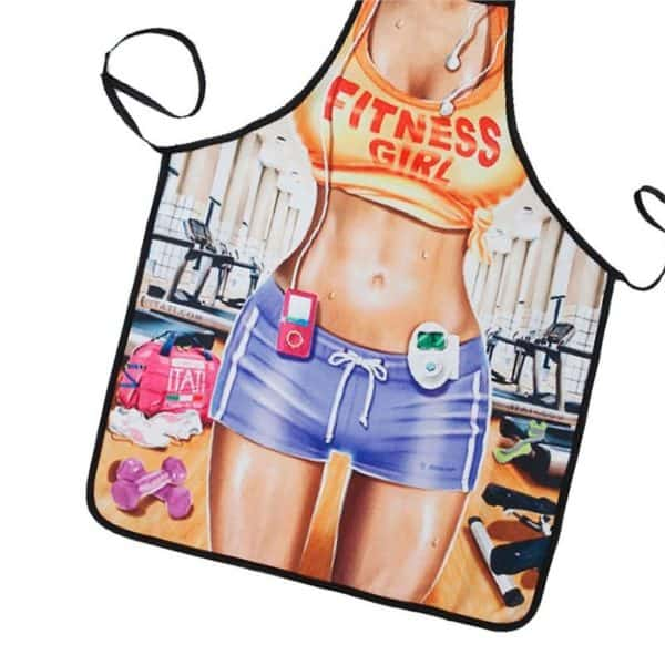 Fitness Girl Cooking Apron