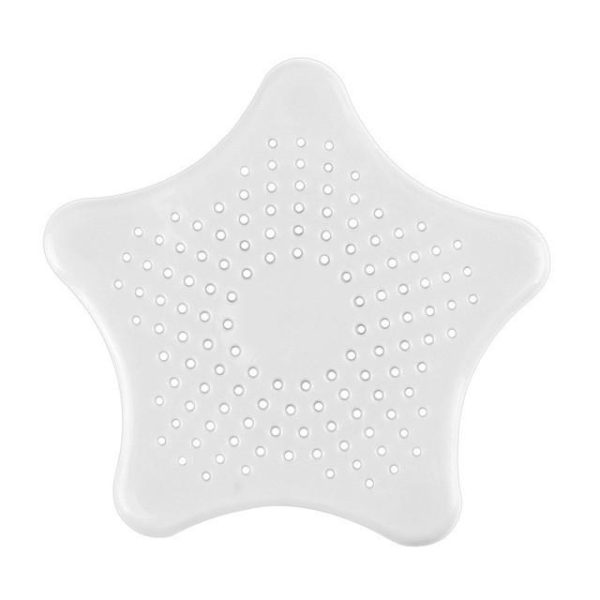 Silicone Star Shaped Sink Filter white