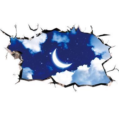 Space Floor Sticker Moon