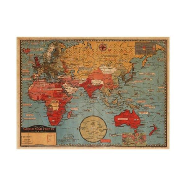 Vintage World Map Poster