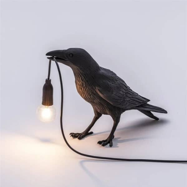 Crow Lamp black A standing