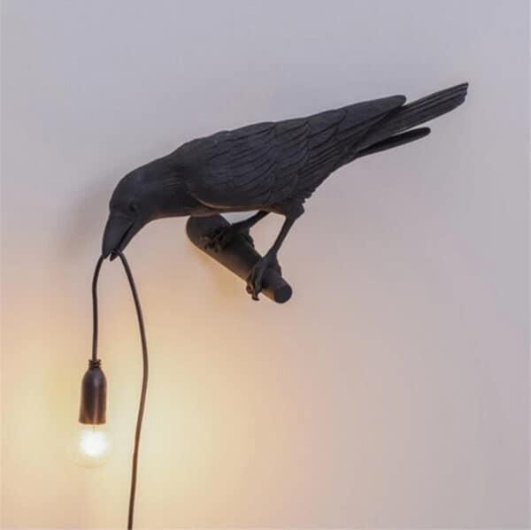 Crow Lamp black B right wall