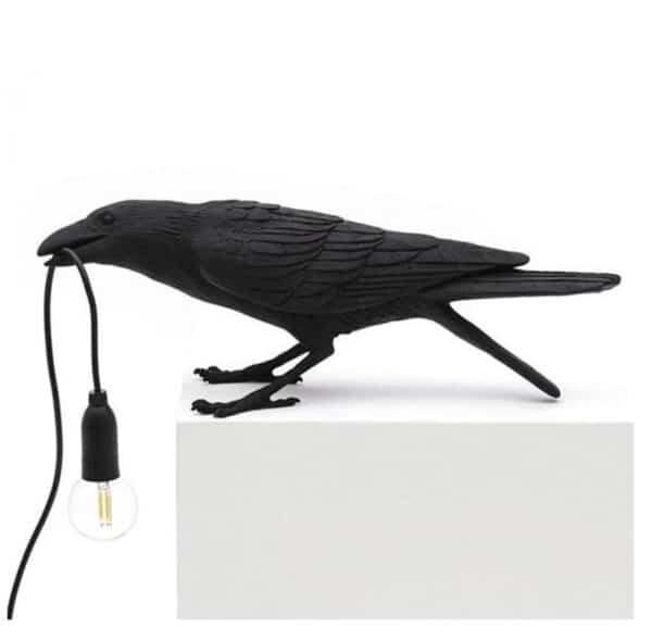Crow Lamp black D sitting table