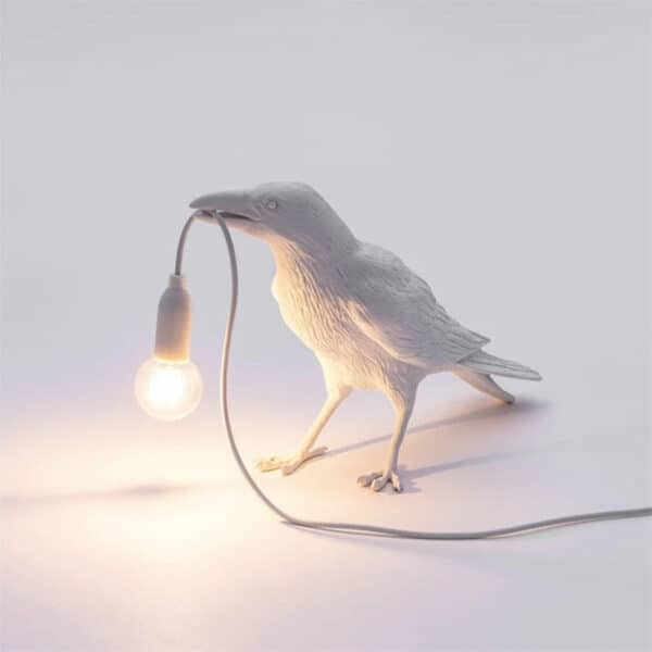 Crow Lamp white A standing
